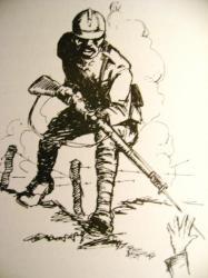 Soldat Africain Americain WWI