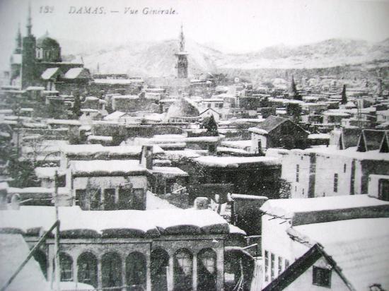 Damas en 1920 sous la neige