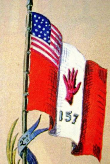 Red Hand Flag in the familly Book