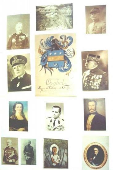 Famille Goybet  En partant de la gauche vers la droite de haut en bas  -Charles Goybet General de Division (1825-1910). -Fort Goybet à Damas  -Victor Goybet General de Division (18