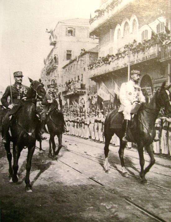 Général Mariano Goybet (à gauche) et Général Gouraud à Beyrouth 1920