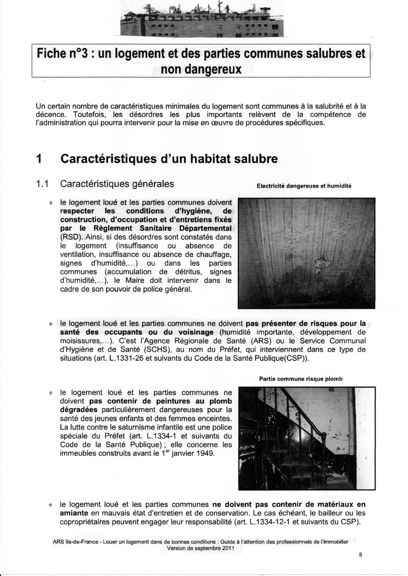 Ars 09 2011 louer un logement dans de bonnes conditions