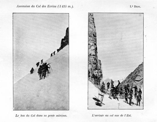Ascension du col des ecrins 3415m aout 1910