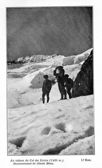 Au culmen du col des ecrins 3415m aout 1910 lt  Bon