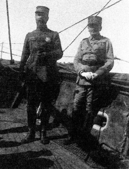Avec le général Gouraud sur l Albatros en vue de Sidon