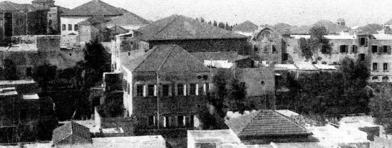 Beyrouth vue depuis la terrasse de mariano Goybet