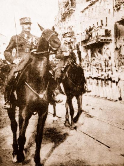 Le général Goybet  victorieux entre dans  Damas