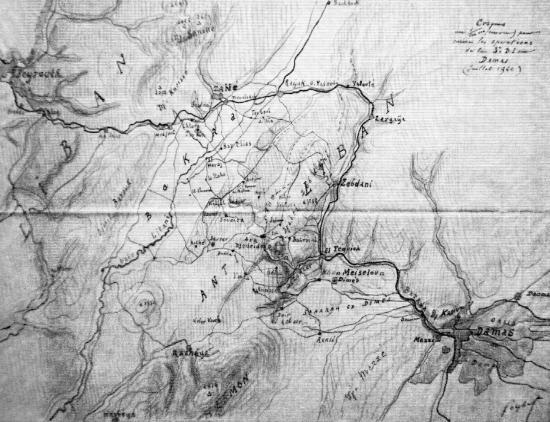 Croquis pour opérations 3eme D.I. sur Damas par le général Goybet