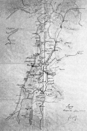 Croquis sur la Syrie du Général goybet 1920