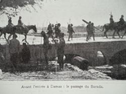 Avant l'entrée A Damas : le passage du Barada.