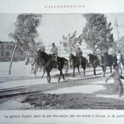 Entrée a Damas des troupes du général Mariano Goybet  en Juillet 1920