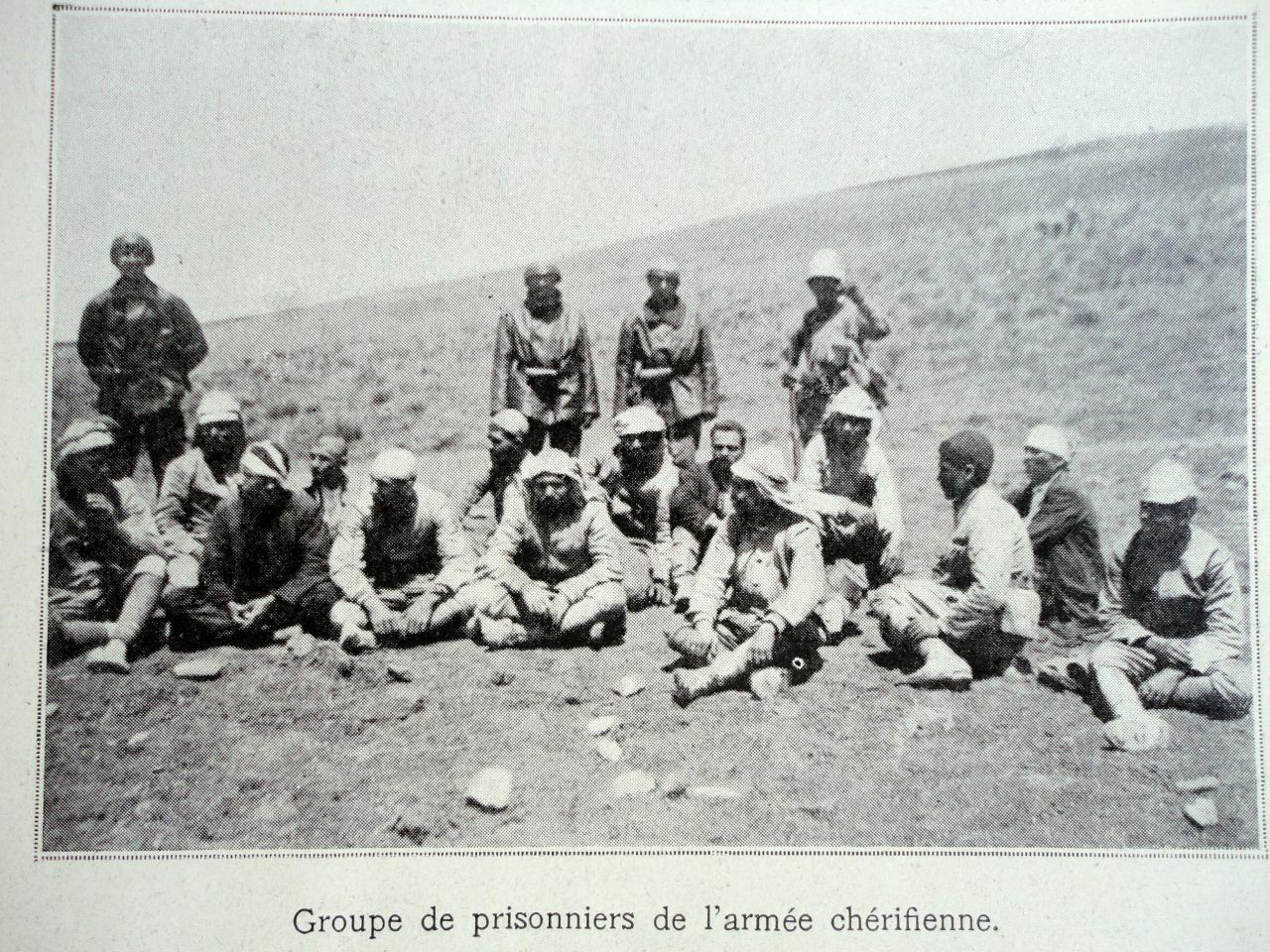 Groupe de prisonniers de l'armée cherifienne