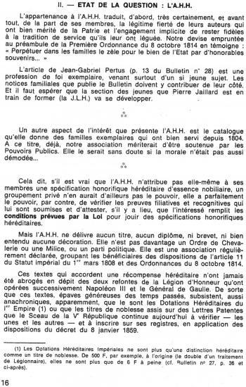 A.H.H. Bul. N°29 1987 Ordonnance 8/10/1814