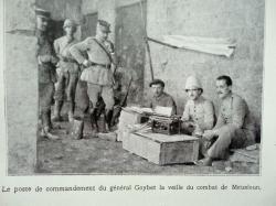 Poste de commandement du Gènéral Goybet avant la bataille