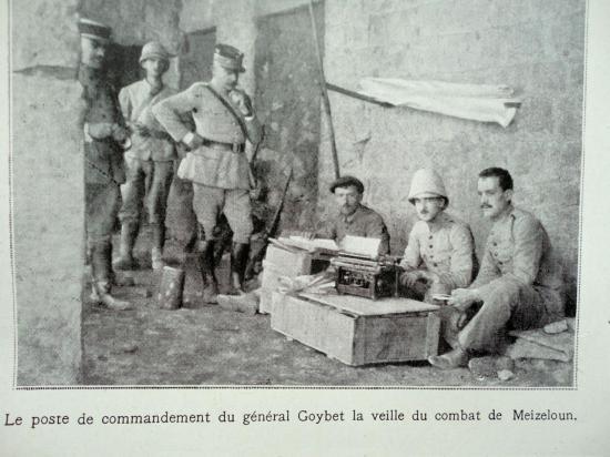 Le poste de commandement du Gènéral Goybet  à la veille du combat de meizeloun