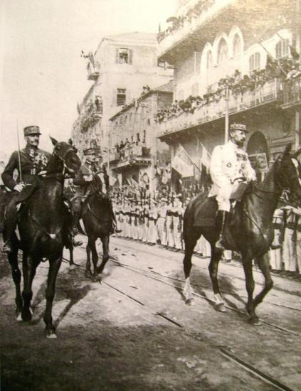 Les généraux Goybet et Gouraud (Juillet 1920)