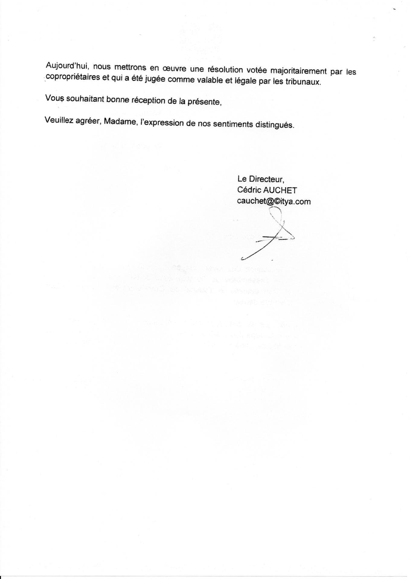 Lettre de cédric auchet directeur citya 28 10 2014 suite