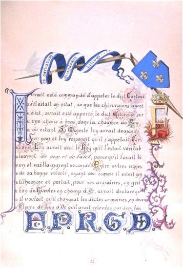Famille Courtois d'Arrcollières . . Courtois pour avoir sauvé la vie de François Ier