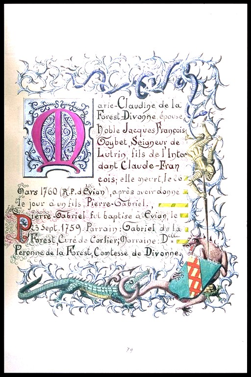 Alliance Goybet et De la Forêt Dyvonne