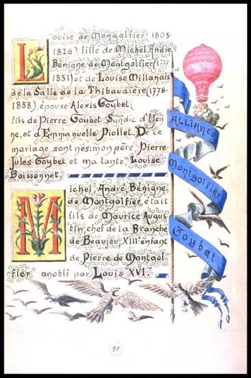 Louise de Montgolfier épouse Alexis Goybet