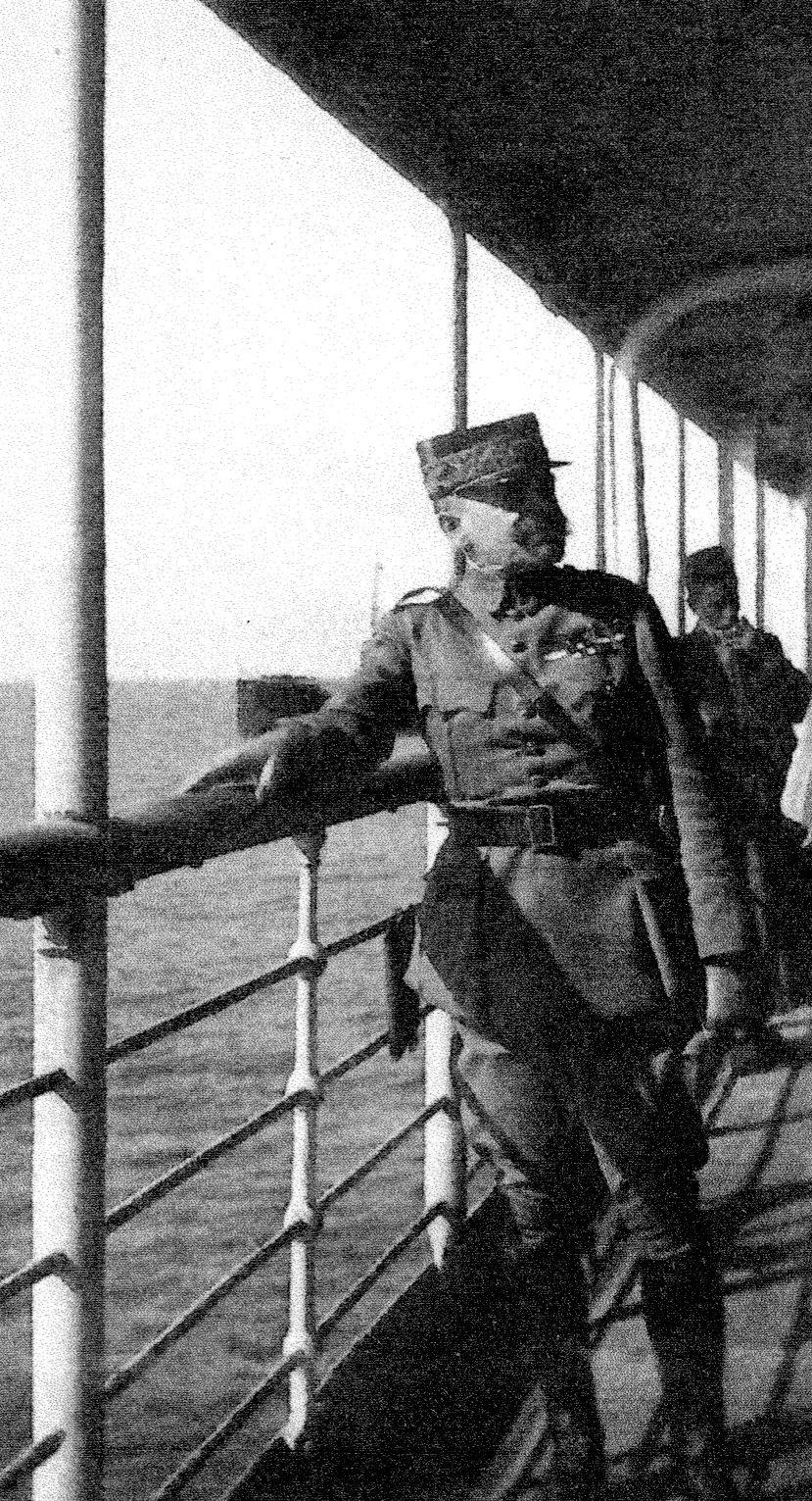 Mariano Goybet a bord du Lotus Mars 1920