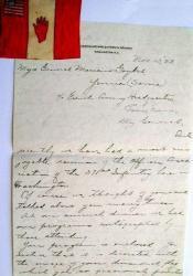 Lettre de Perry L. Miles