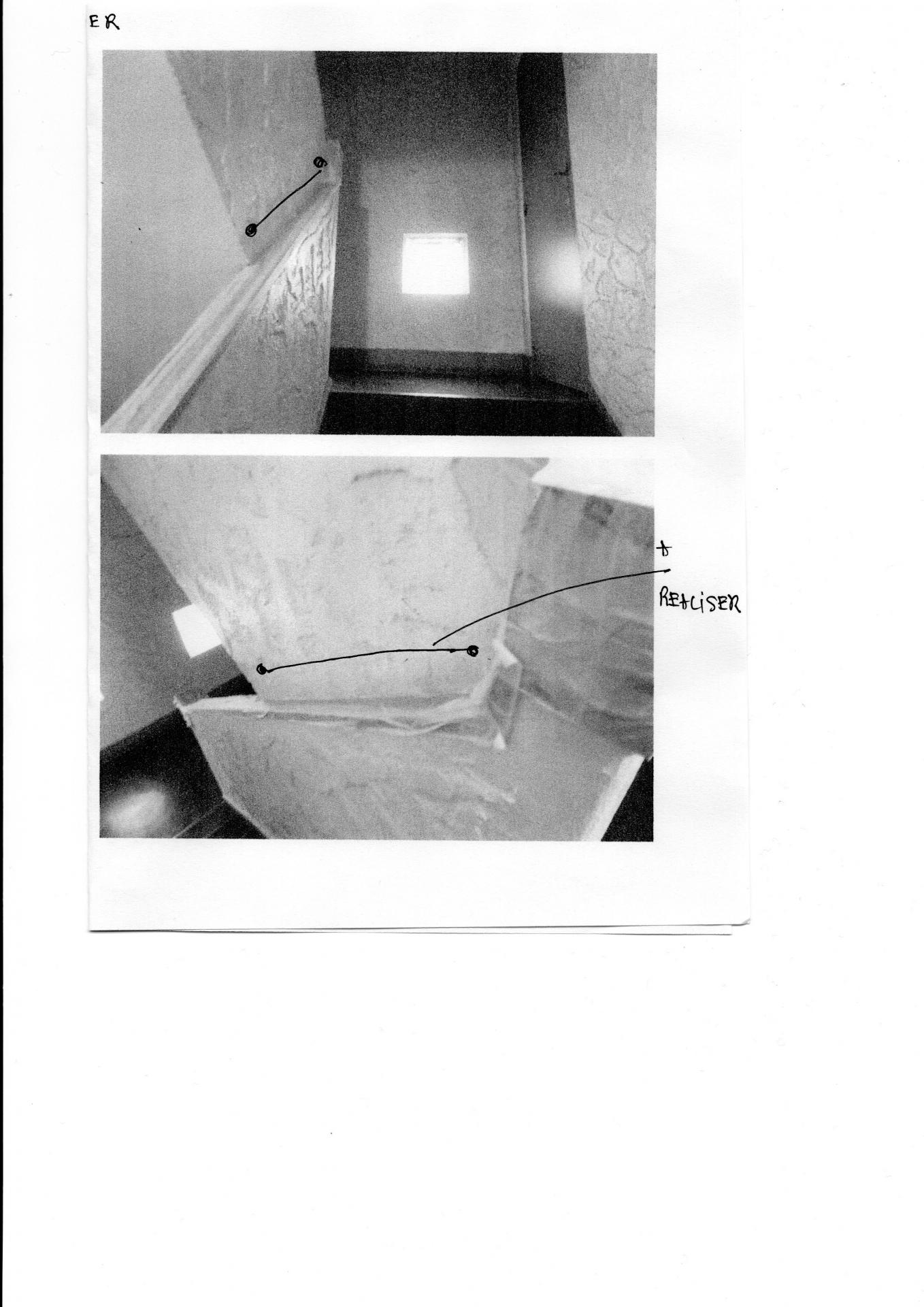 Rampe accès a réaliser escaliers