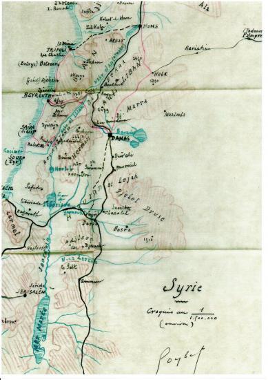 Syrie croquis du general goybet en 1920