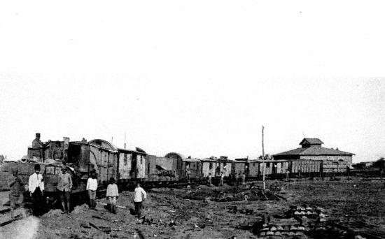 Train blindé sur la ligne du hedjaz