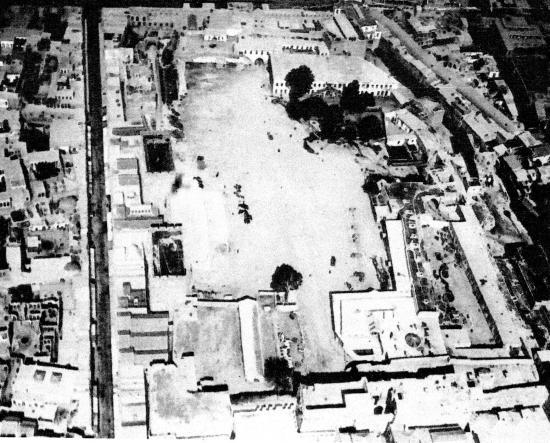 Vue aérienne de la citadelle